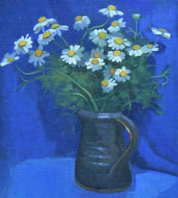 Ken Symonds Original Oil Painting Daisies Still Life